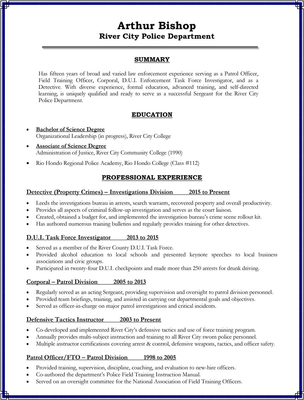 Building Your Promotional Resume Consider These Sections