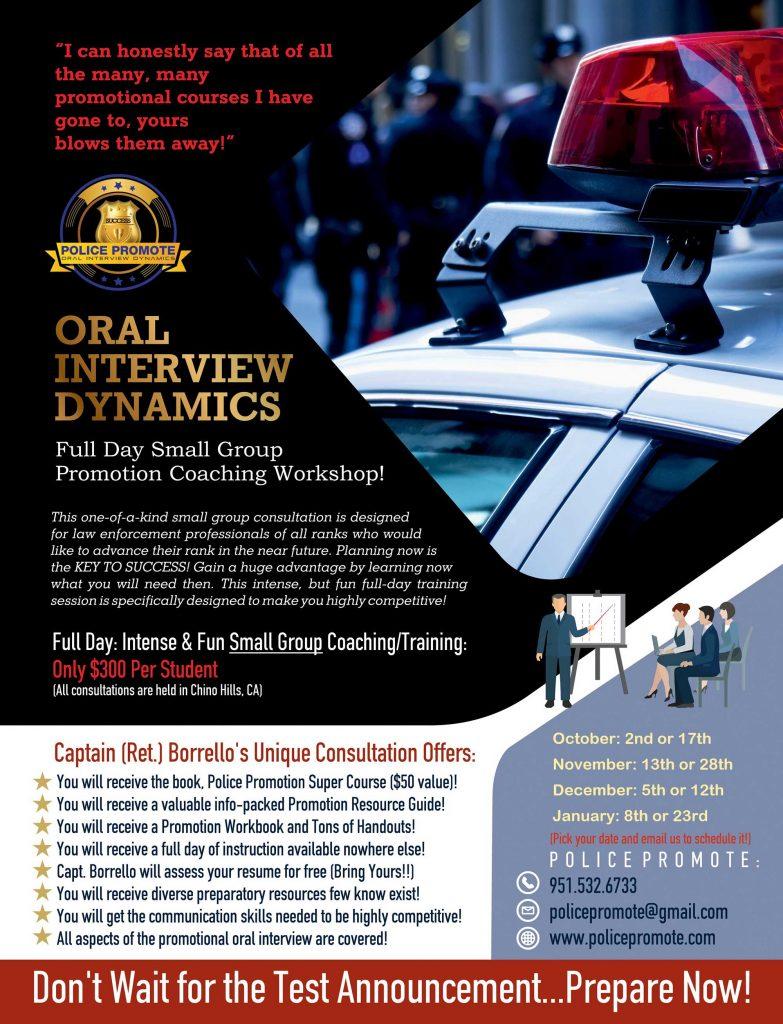 Law Enforcement Promotion Consultation